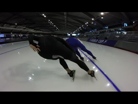 Speed Skating at the Olympic Oval with Joey Kimani KC 400m 24.9