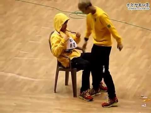 [MBLAQ] Mir sits in the lap of Lee Joon (Fancam) @ Idol Athletics