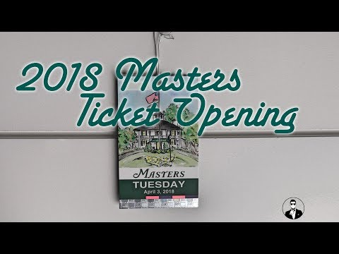 2018 Masters Tournament Ticket Opening