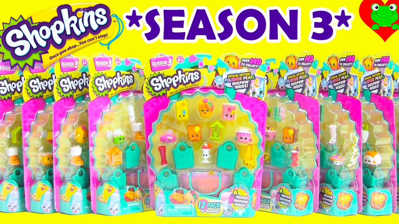 Shopkins Season 3 With 6 Ultra Rare Finds And Polished Pearl