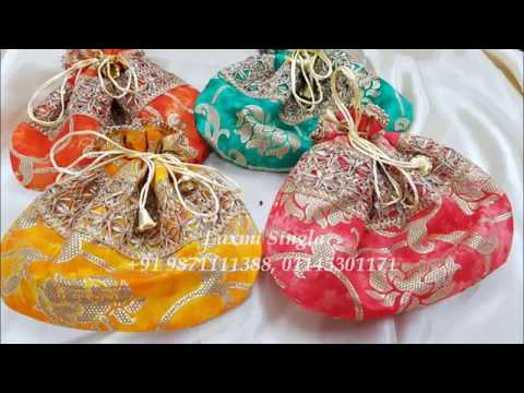 Rich Fabric Potli Bags by Laxmi Singla