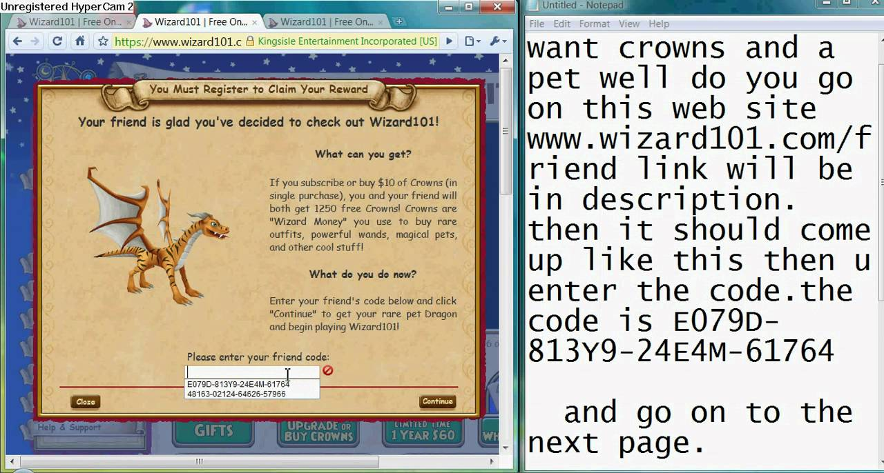 get free crowns and pet's on wizard101 - YouTube