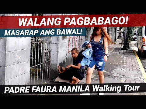 TULOY PARIN ANG KAYOD! VENDORS LULUBOG! LILITAW! PADRE FAURA ST. MANILA STREET WALKING TOUR