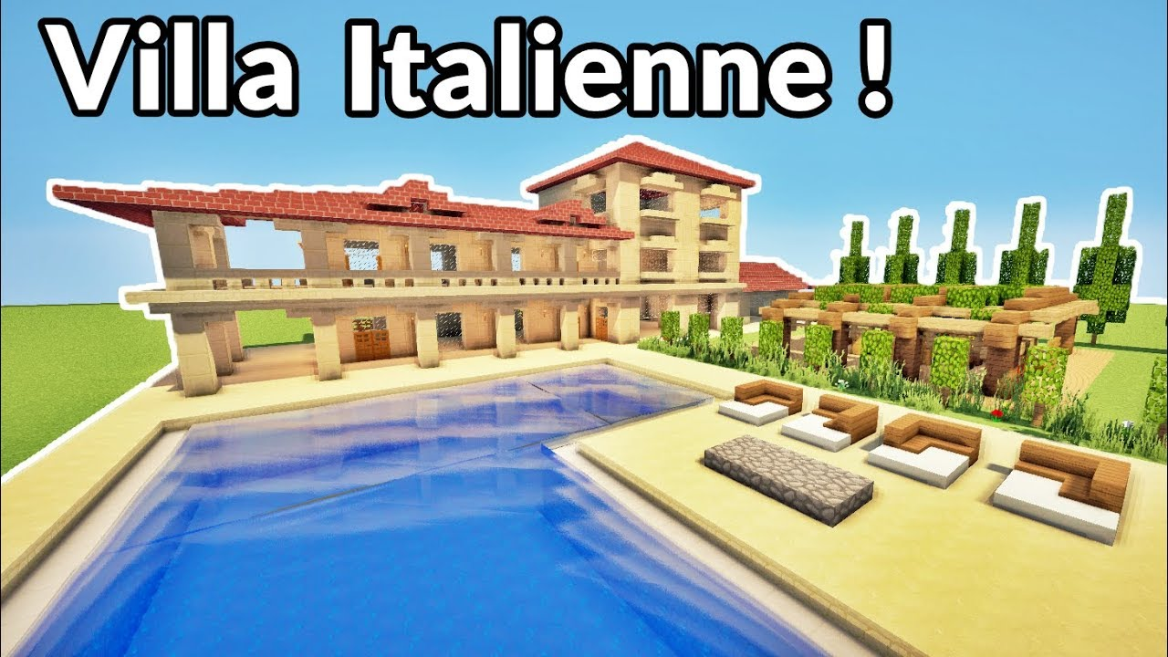 comment faire une grande villa italienne sur minecraft. Black Bedroom Furniture Sets. Home Design Ideas