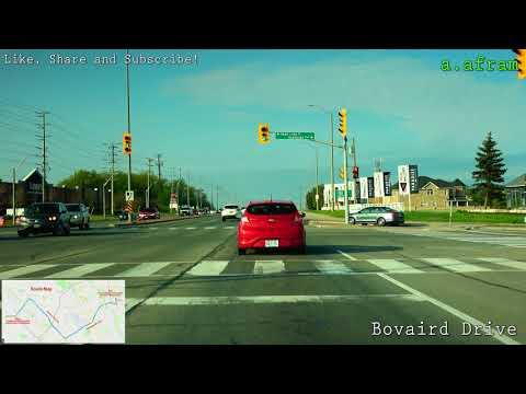 [4K] 2018 Spring Highway Driving from Brampton to Toronto Ontario Canada