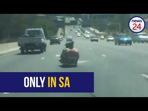 WATCH: Grayston Drive trolley cruisers reach astonishing speed in busy traffic