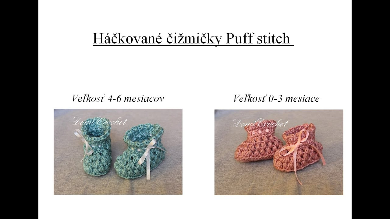 86a154435762 Čižmičky Puff stitch - YouTube