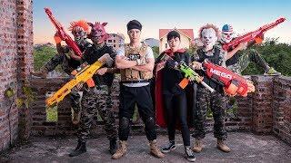 GUGU Nerf War :  Dragon Warrior Nerf Guns Fight Criminals Use Nerf Mod Weapons Mask