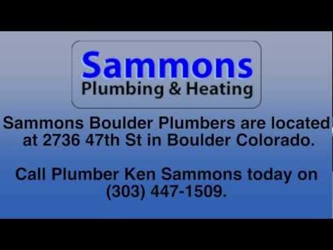 Plumber in Boulder / Boulder Plumber, 30 years in Business. Sammons Plumbers.