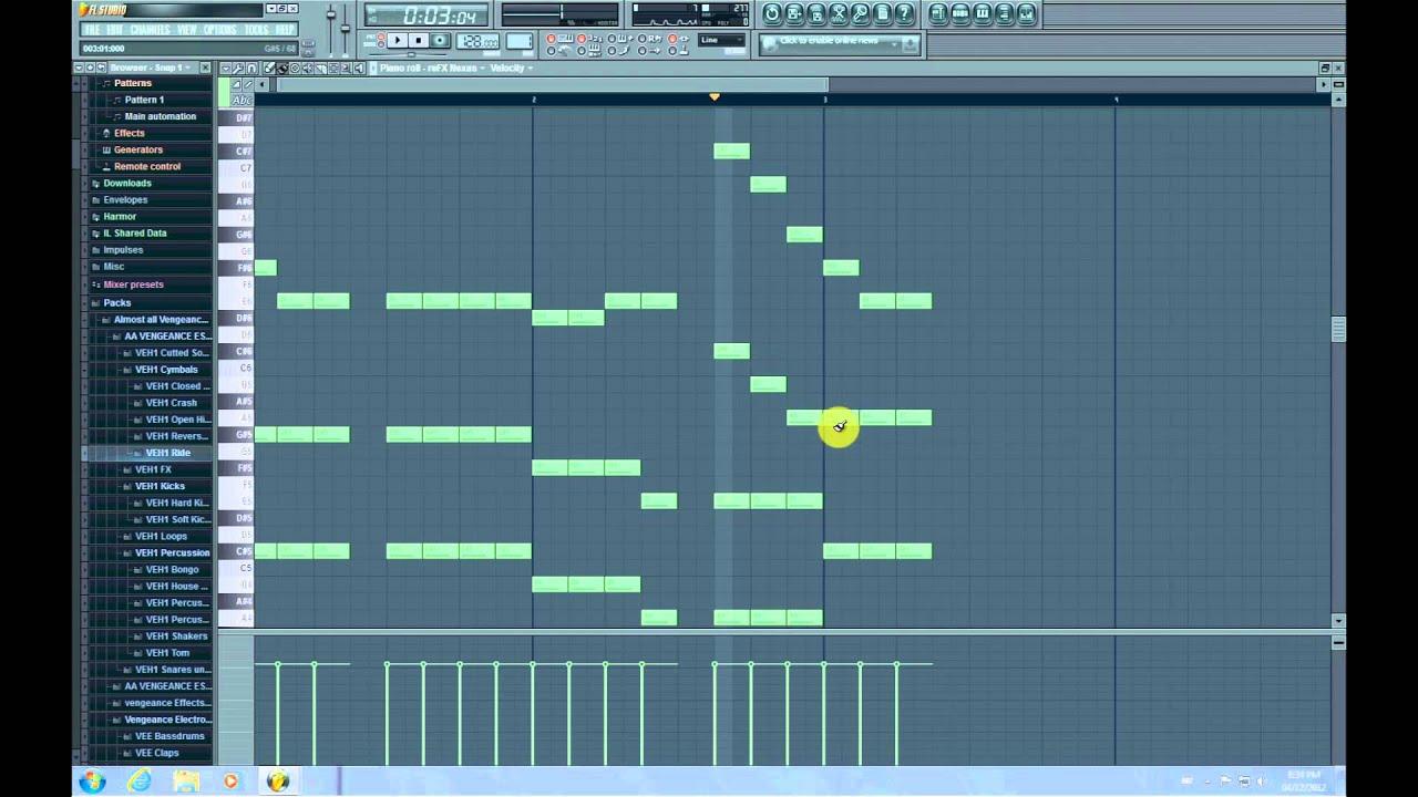 Avicii - Levels : FL Studio 10 Piano Notes (With MIDI File) - YouTube