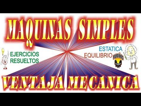 estática---máquinas-simples-,-ventaja-mecánica-y-poleas-ejercicios-resueltos-de-equilibrio
