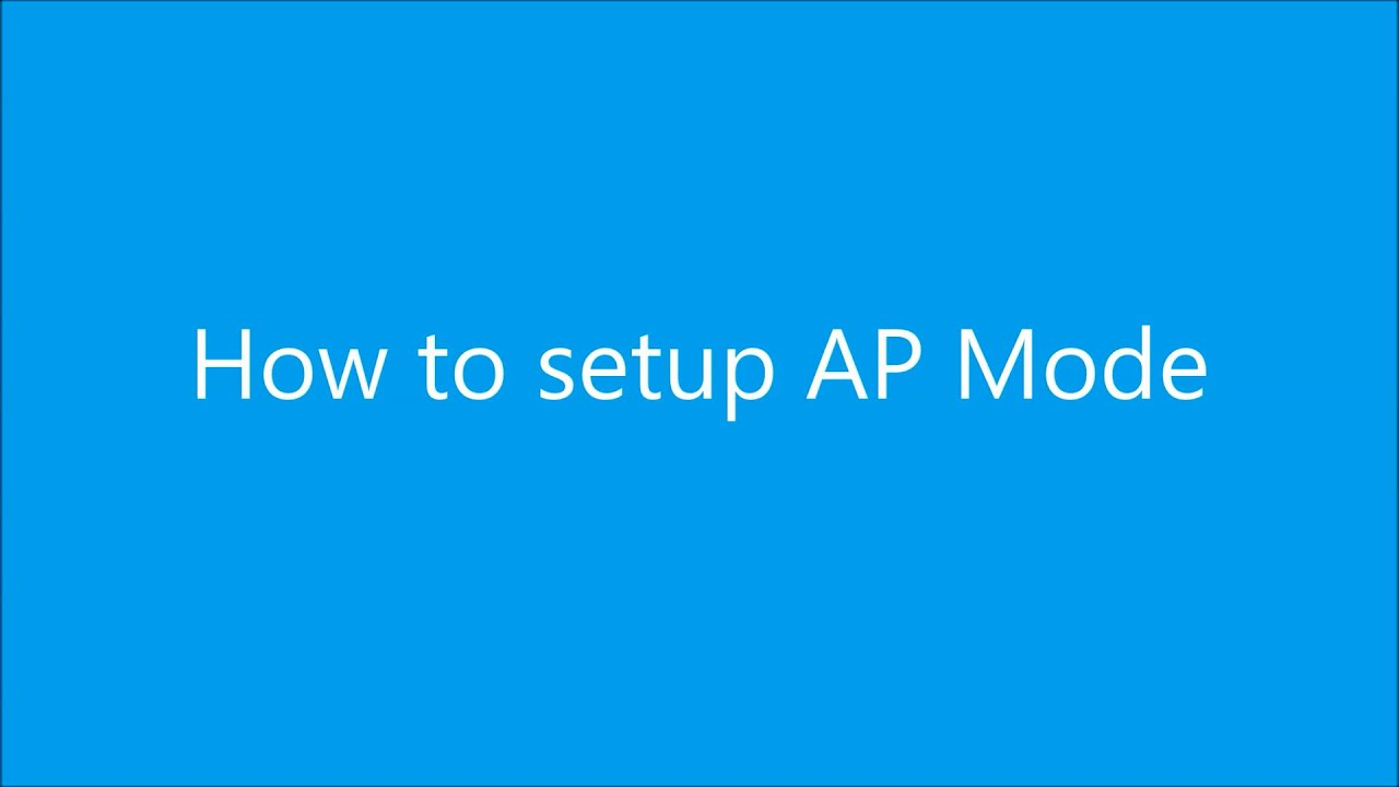 ASUS Router - How to setup AP Mode