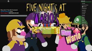 Nice Moustache... | Roblox 5 Night's At Wario's |