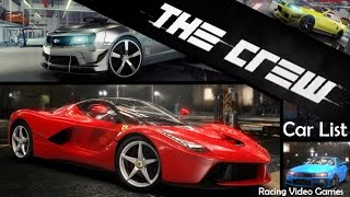 The Crew | Car List Part 1 & Specs [All Cars Revealed So Far] | PS4 | Xbox One | PC
