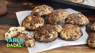 Oreo Cheesecake Cookies by Tarla Dalal