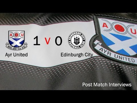 160723 Edinburgh City Post Match