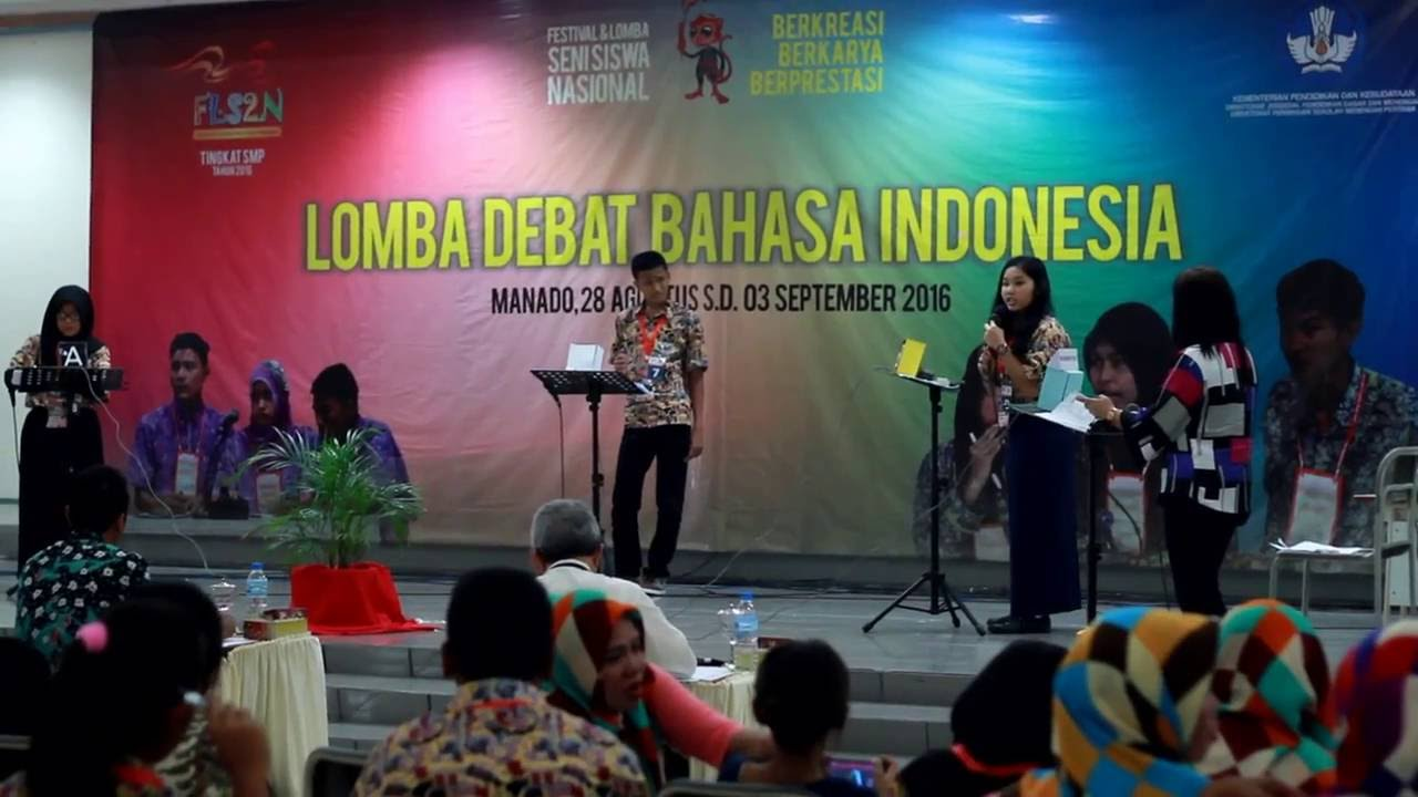 Debat Berbahasa Indonesia Fls2n 2016 Tingkat Smp Youtube