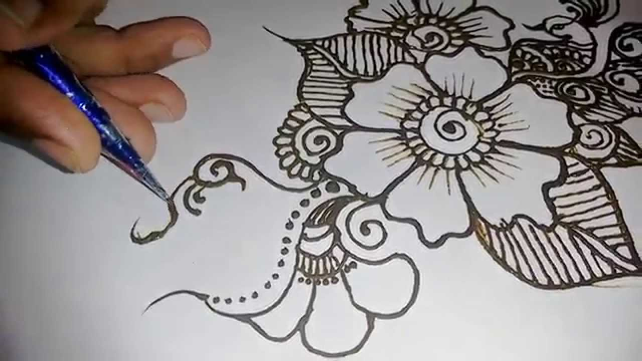 Beautiful Designs mehndi design for hands beautiful easy-simple henna design easy