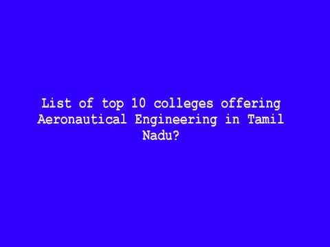 List of top 10 colleges offering Aeronautical Engineering in Tamil Nadu