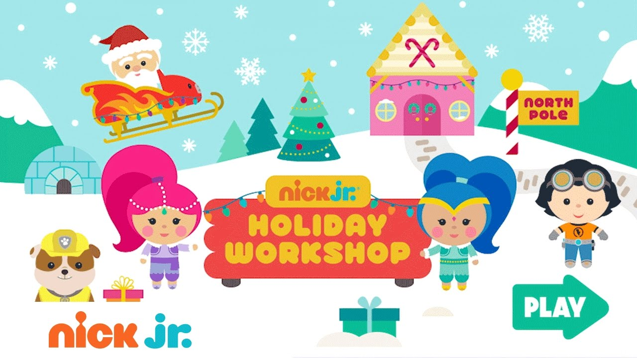 Play The Free 'Nick Jr. Holiday Workshop Game' W/ PAW
