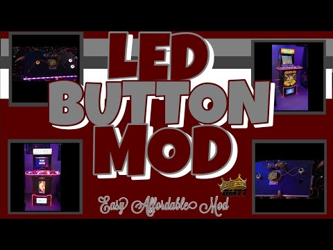 ARCADE1UP LED BUTTON MOD from GameMom77