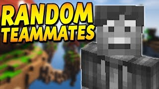CARRYING RANDOM TEAMMATES IN SKYWARS! (Hypixel Skywars)