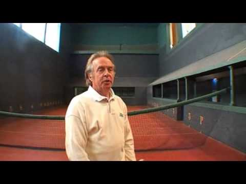 real tennis at Fontainebleau with Anthony Scratchley