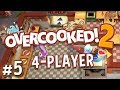 Overcooked 2 - #5 - ELEVATORS IN A KITCHEN?! (4 Player Gameplay)