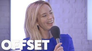 Download Emily Blunt doesn't understand why her and John Krasinski are relationship goals Mp3 and Videos