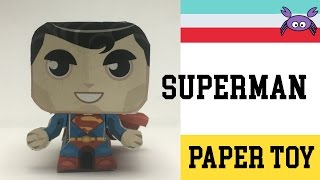How to Make a Superman Paper Toy ( Papercraft ) (free template) by Gus Santome
