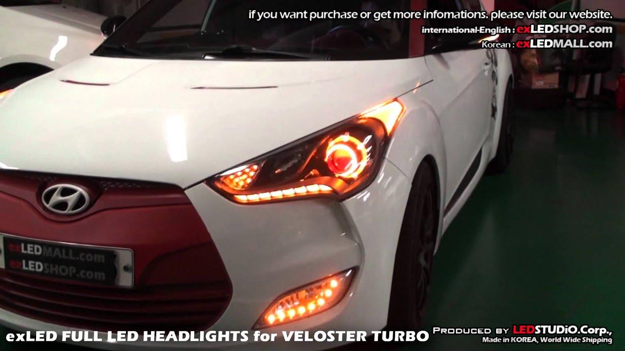 exLED FULL LED HEADLIGHTS for VELOSTER TURBO on