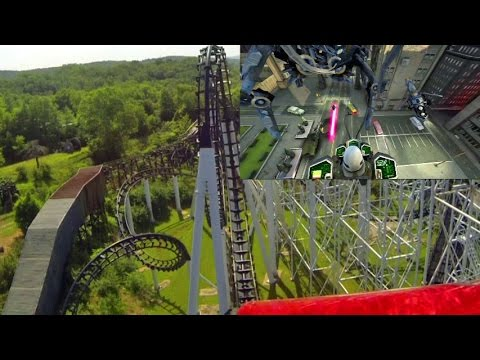 The New Revolution front seat on-ride HD POV with VR Six Flags St. Louis