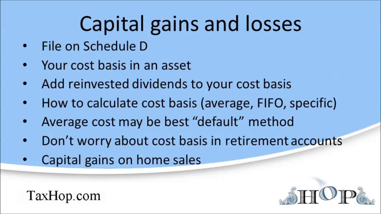 Capital gains and losses Schedule D YouTube – Capital Gains Worksheet 2014