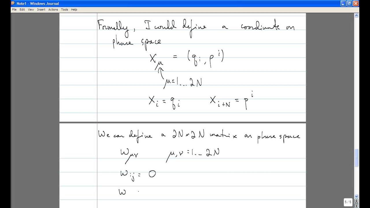 Classical Mechanics, Lecture 16: Hamiltonian Mechanics  Phase Space