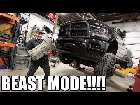 ULTIMATE CUMMINS TOW RIG GETS SICK BUILT TRANSMISSION!!!!
