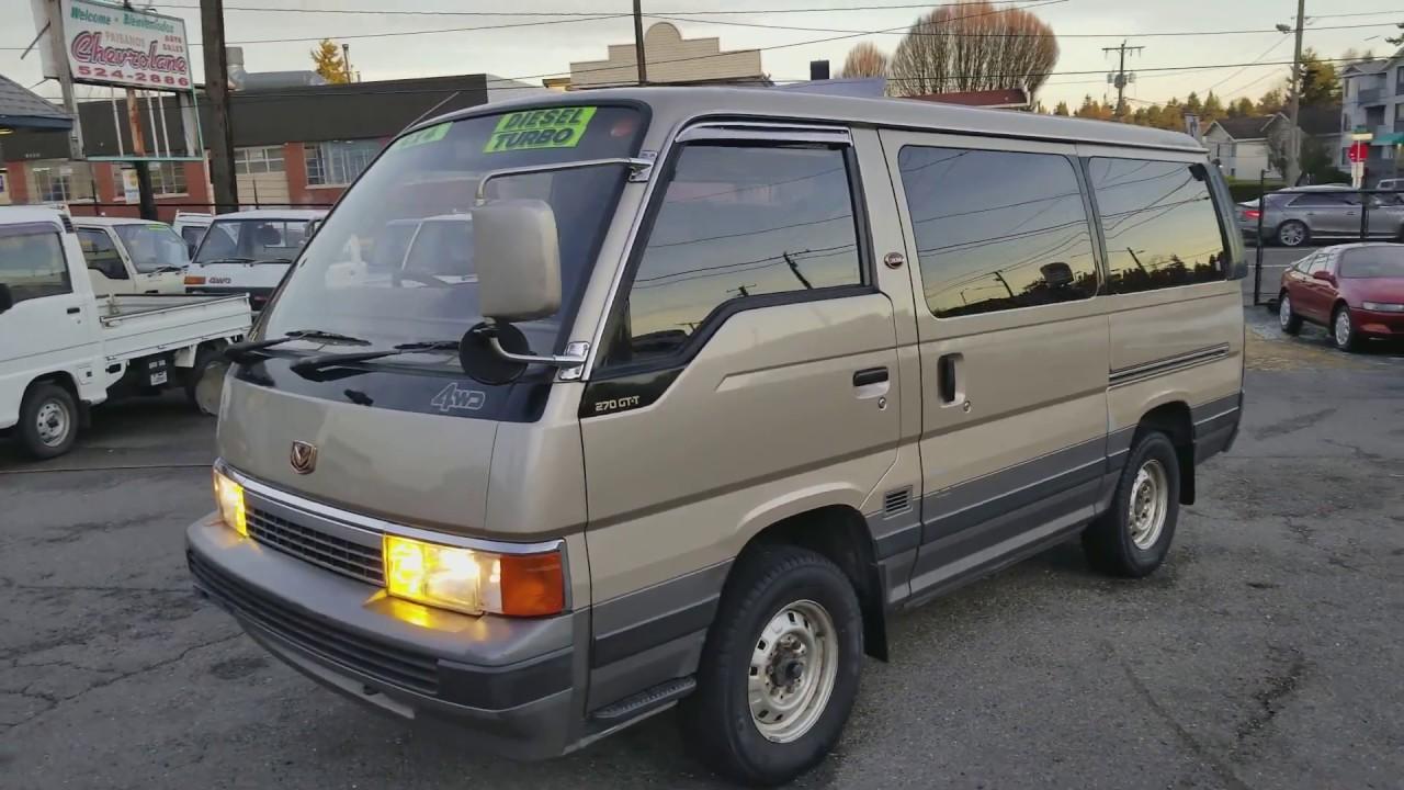 1990 Nissan Caravan Coach Limusine Awd Krme24 Turbo Diesel Youtube