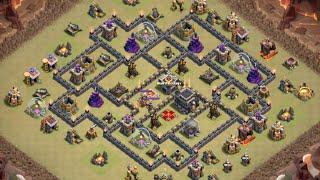 Clash of Clans - Mass Valks with Queen Walk Strategy vs Maxed TH9