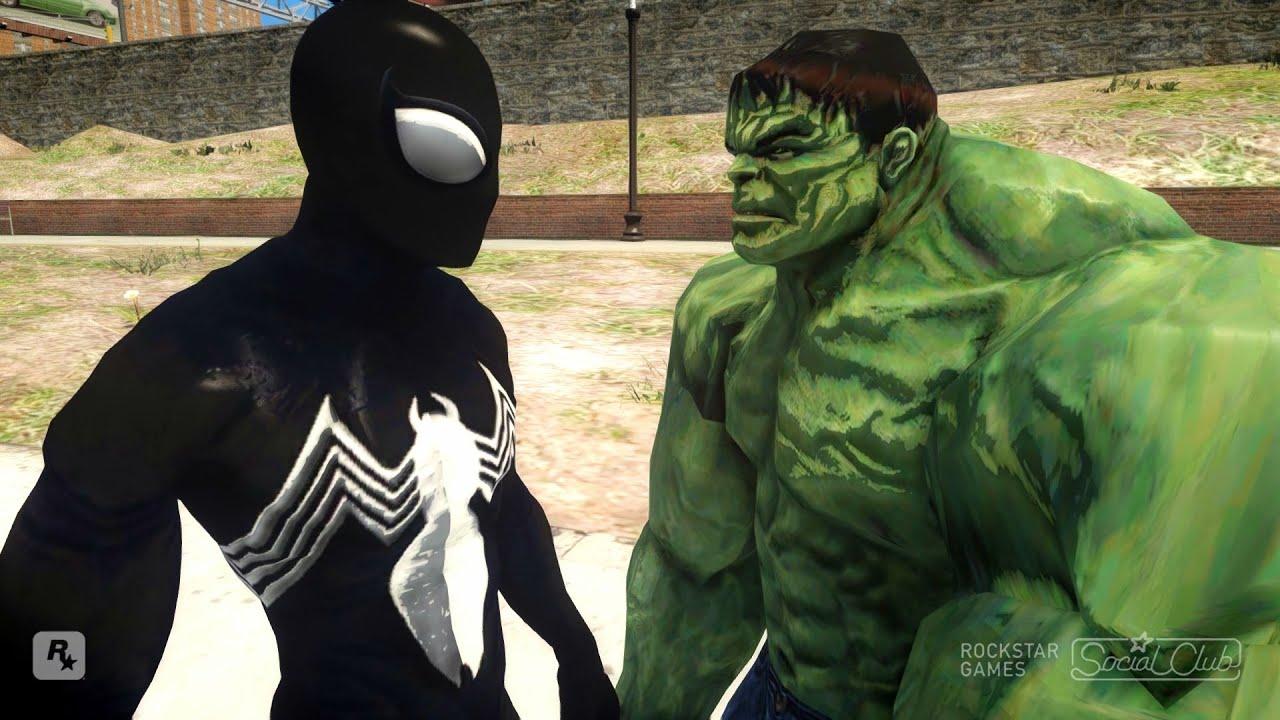 Spiderman vs Hulk Symbiote Spider-Man - YouTube