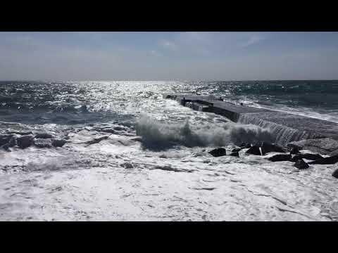 Крым, Партенит, шторм 27.05.2018