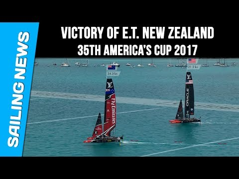 America's cup 2017 - Victory of Emirates Team New Zealand