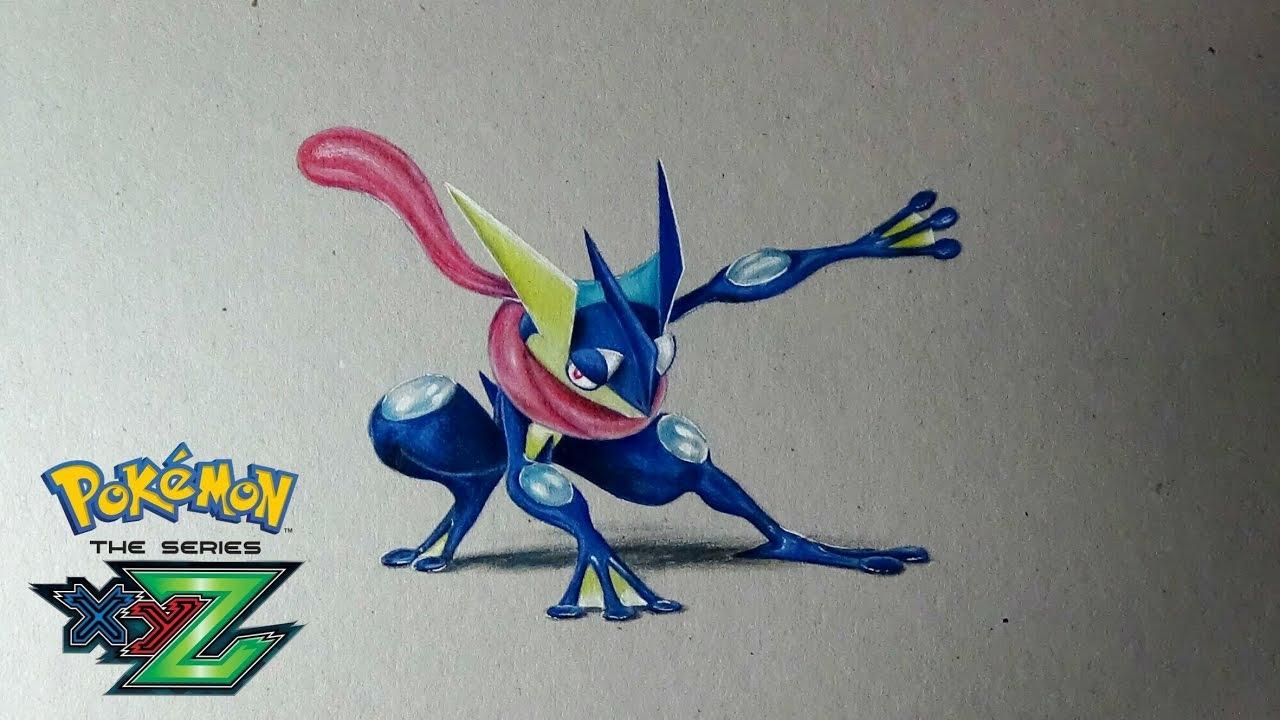 Cómo Dibujar A GRENINJA El Pokemon De Ash