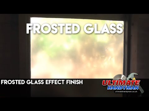 Frosted glass effect finish