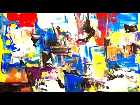 Making a Small Layered Abstract Painting