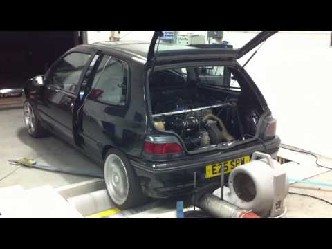 Andy Bloxsome's rear engine, GT40 VNT 3L VR6 turbo Clio mk1