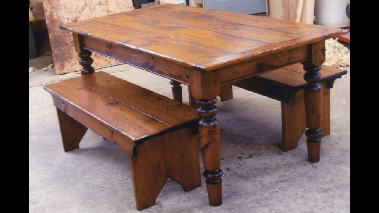 How To Build A Farmhouse Table Youtube Awesome Farmhouse Table And Bench Youtube