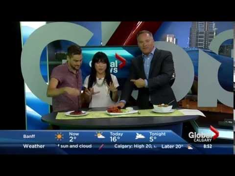 hot for food on Global Morning News in Calgary