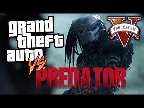 GTA vs Predator! (GTA V Rockstar Editor)