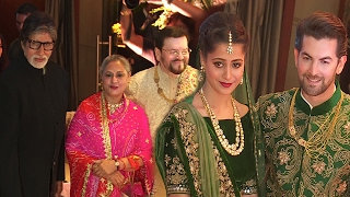neil nitin mukesh wedding reception 2017 full video amitabh rekhakatrina