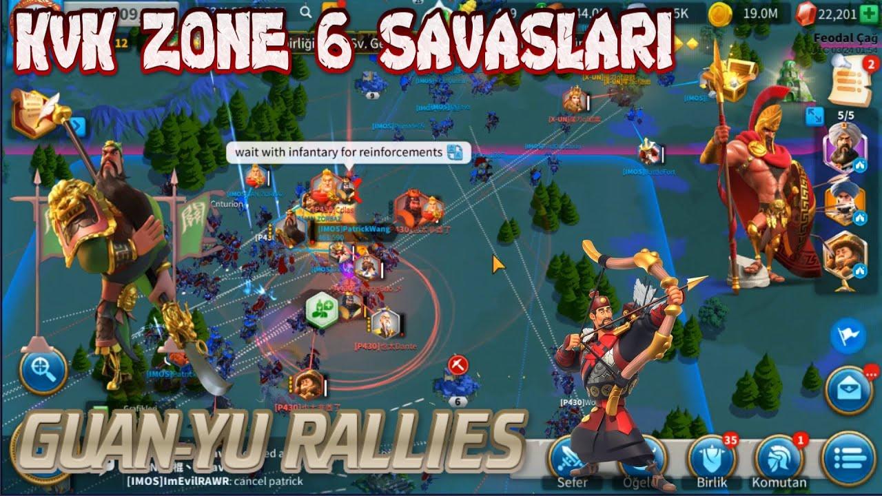 rise of kingdoms zone 6 savaslari rally acik alan savaslari