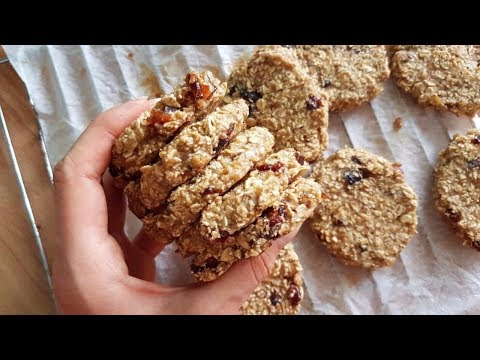 Chewy Oatmeal Banana Cookies 🍪 | {LOW FAT} ONLY 3 Ingredients!!